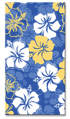 White & Yellow Hibiscus Beach Towel