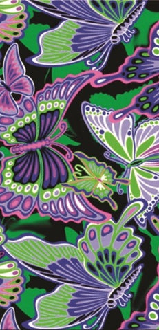 24 Blue Green Butterfly Collage Velour Beach Towels 30 x 60 Inch #BT6850