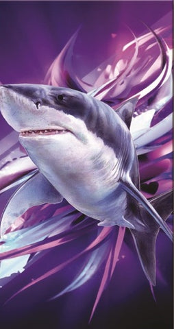 24 Shark Velour Beach Towels 30 x 60 Inch #BT6852