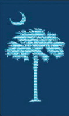 24 Palmetto Crescent South Carolina Logo Velour Beach Towel 30 x 60 Inch #BT6873