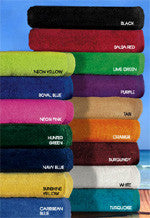 36 Terry Velour Beach Towels 28 x 58 Inches