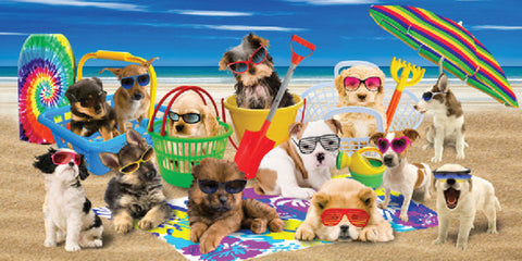 12 Cool Dogs Velour Beach Towel 30 x 60 inch #0073