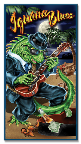 24 Iguana Blues Beach Towel 30 x 60 #BT6603