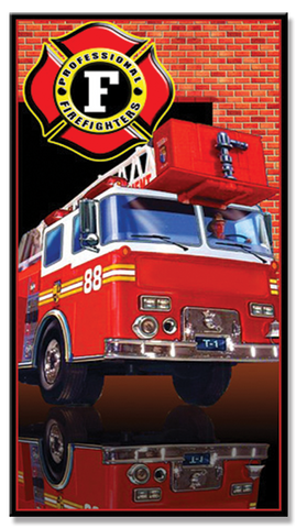 24 Fire Truck Beach Towel 30 x 60 Inch #BT6730