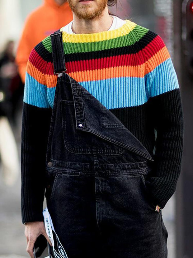 Men's Rainbow Colorblock Sweater