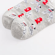 Colorful dog medium tube casual cotton socks
