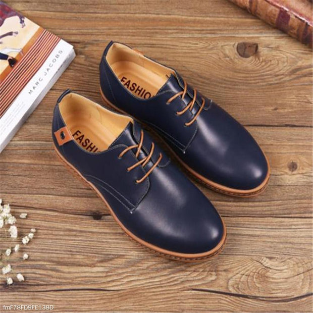 Fashion Casual Soft Plain Leather Men Shoes