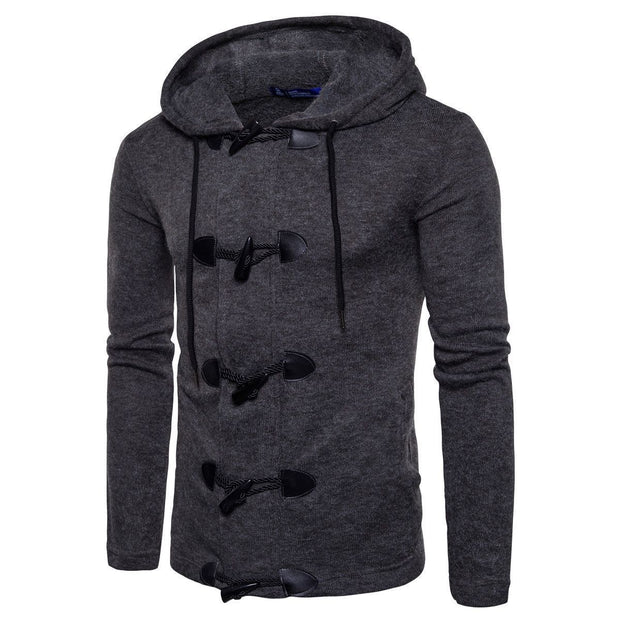 Cool Fashion Plain Slim Button Winter Short Coat