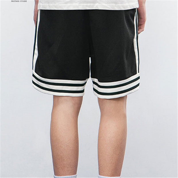 Daily Casual Loose Striped Decorated Short Pants