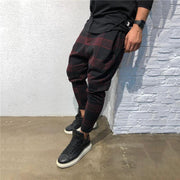 Casual Plaid 3D Digital Printing Loose Haren Pants