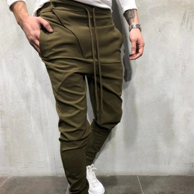Fashion Casual Tether Solid Color Straight Sports Pants
