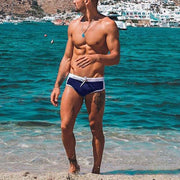 Drawstring Solid Color Slim Sexy Swimming Trunks