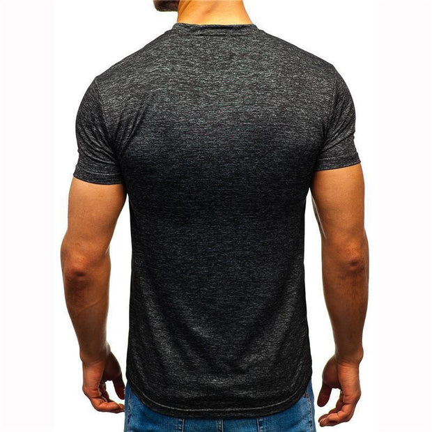 Daily Round Neck Short Sleeves Fast Drying T-Shirt