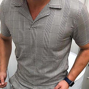 Commuting Turndown Collar Short Sleeve Two-Piece Set