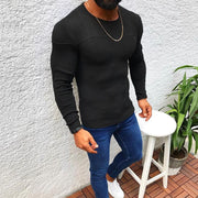 Casual Pure Colour Round Neck Slim Fit Sweater