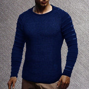 Casual Pure Colour Round Neck Pullover Sweater