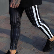 Casual Stripe Tight Fit Pants