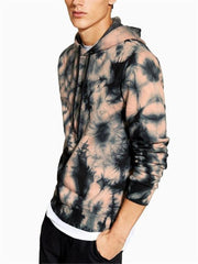 Fashion Abstract Tie-Dyed Men's Hooded Sweater