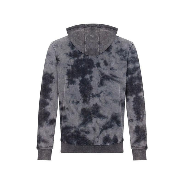 Casual Printed Tie-Dye Fashion Men's Sweater Shirts Shorts Suit, Men's Sweater Shirts