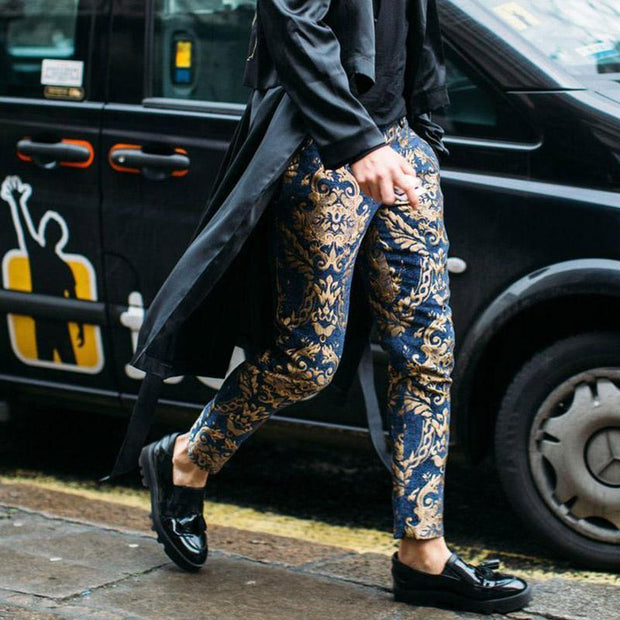 Fashion Floral Pattern Printed Pants