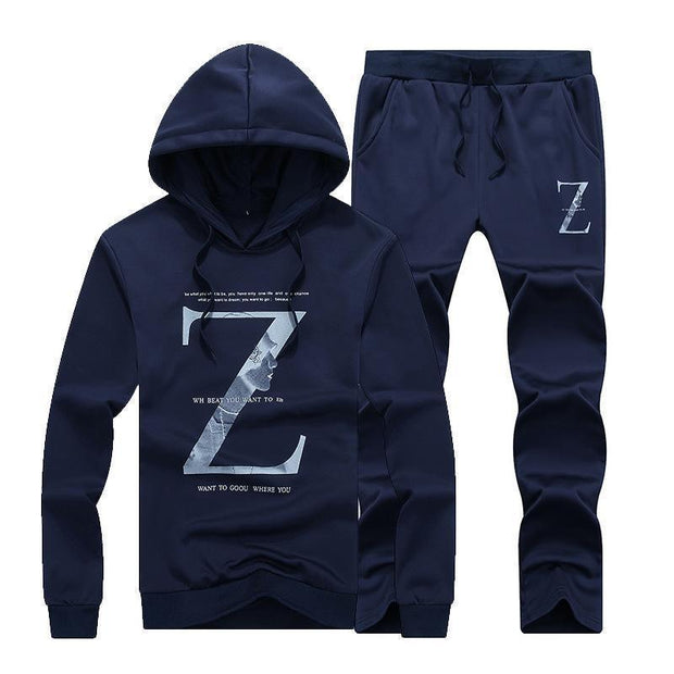 Casual Men's Hooded Sport Suit
