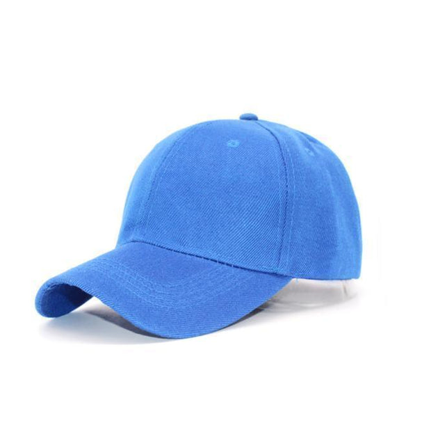 Couple's baseball cap, curved hat, solid color cap