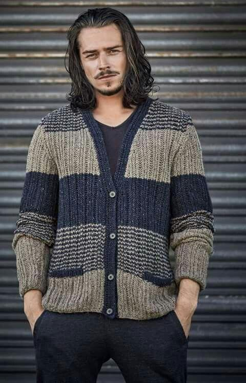 Contracted Temperament Color Matching Cardigan Sweater