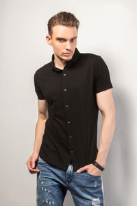 Black Half-Sleeves Shirt