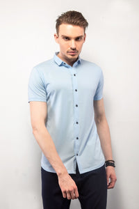 Sky Blue Half-Sleeves Shirt