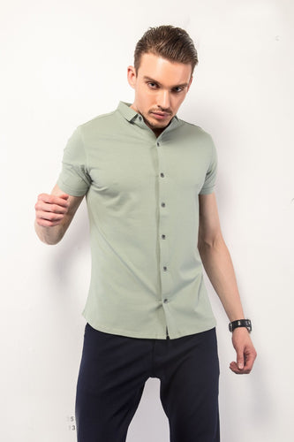 Green Half-Sleeves Shirt