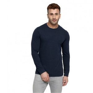 Grey : White : Navy Blue - Full Sleeves T-shirts Combo