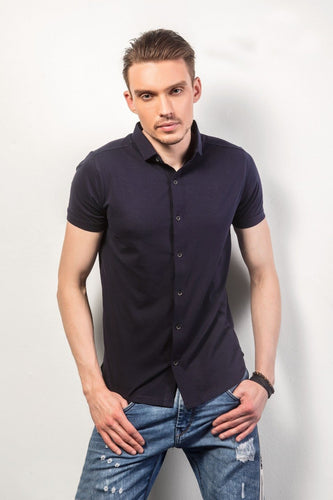Violet Half-Sleeves Shirt