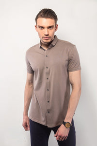Grey Half-Sleeves Shirt