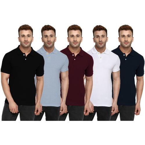 Make Your Own Pack Of 2  - Polo Neck Half Sleeve T-shirt Combo