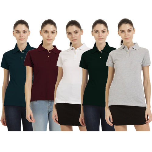 Make Your Own Combo - Polo Neck Short Sleeve T-shirts Combo of 3