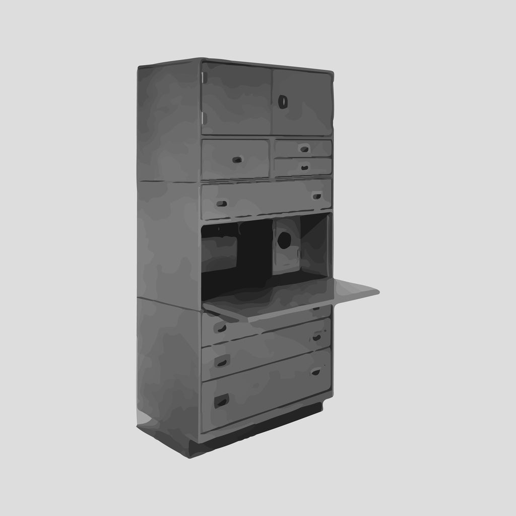 Locker, secretary and drawer section, 36""
