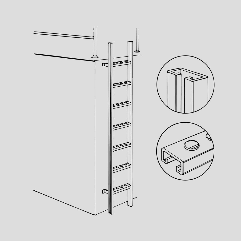 Stainless steel vertical ladder