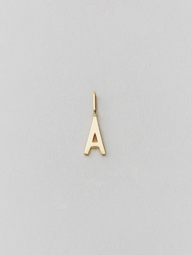 Design Letters 10mm Archetype Personalised Gold Letter Charms