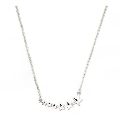 Shooting Stars Necklace Silver