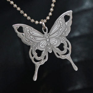 Carter Gore Silver Pendant - Butterfly