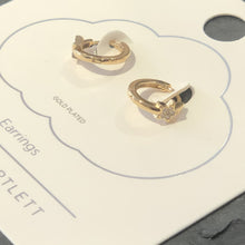 Load image into Gallery viewer, CZ Star Mini Hoop Earrings - Gold Plated