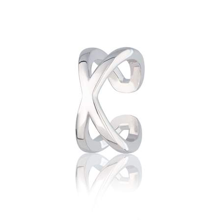 Scream Pretty  Cross Over Ear Cuff - Silver or Gold