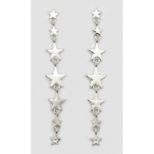 Seven Stars Drop Earrings Silver