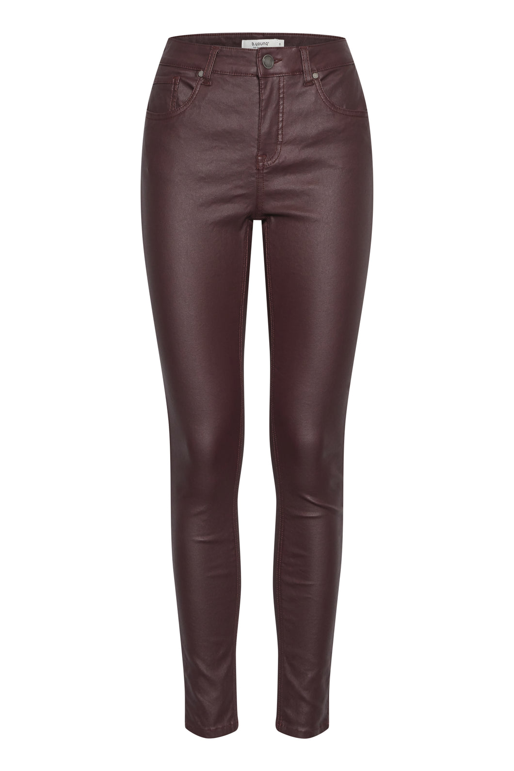 B.Young Coated Stretch Jeans - Wine