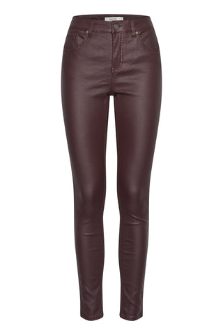 B Young Coated Stretch Jeans - Wine