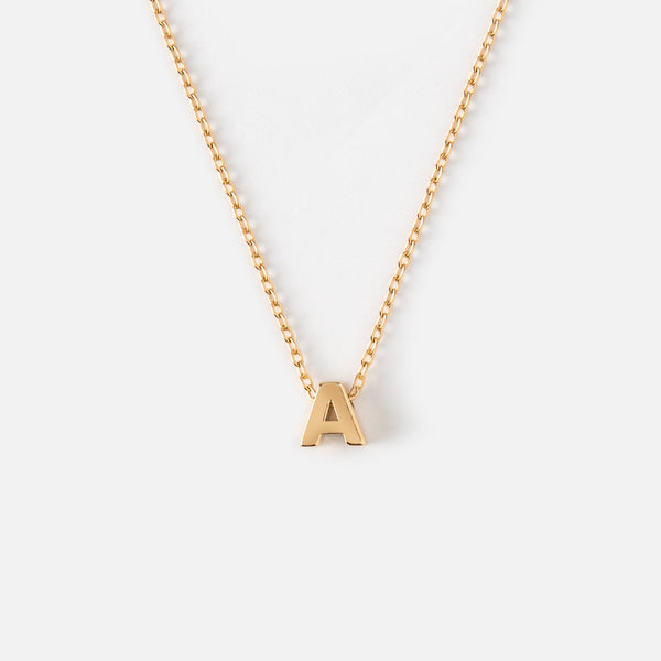 Orelia Gold Plated Initial Necklace