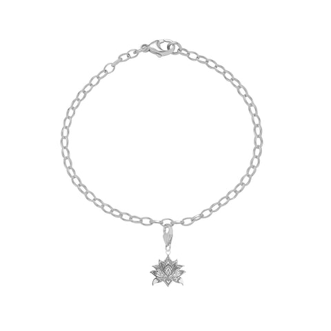 Carter Gore Silver Charm Lotus Flower