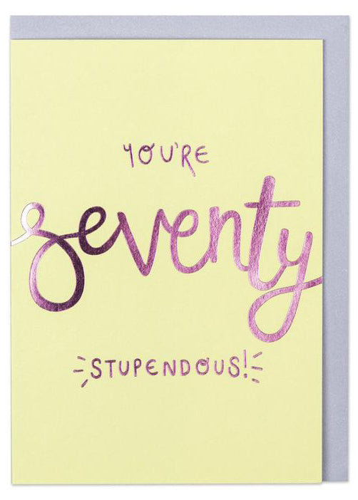 Raspberry Blossom 'You're 70 - Stupendous!' Card