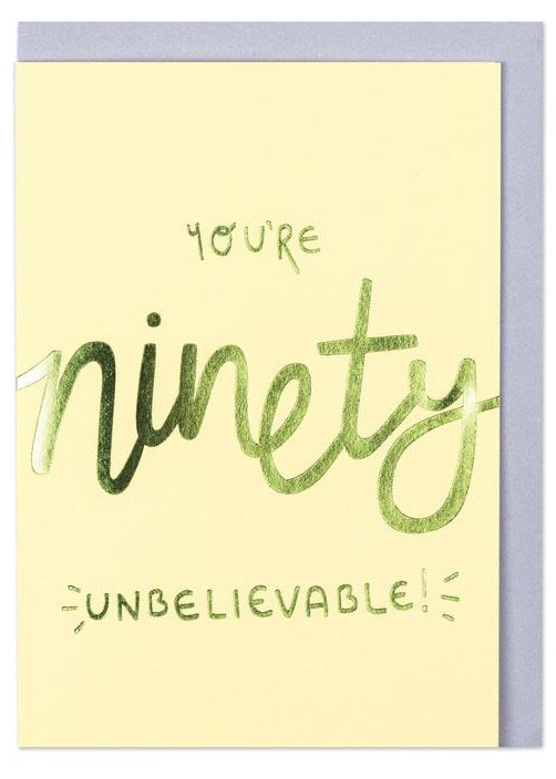 Raspberry Blossom 'You're 90 - Unbelievable!' Card