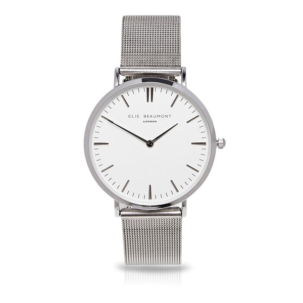 Elie Beaumont Oxford Large Mesh Silver